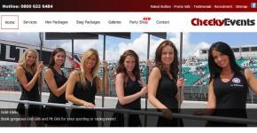 Cheeky Events website screenshot
