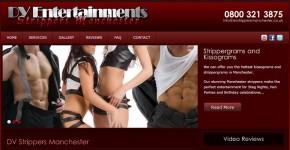 DV Ents Manchester website screenshot