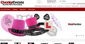 Cheeky Events Party Shop website screenshot