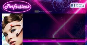 Perfections Hair & Beauty Salon website screenshot