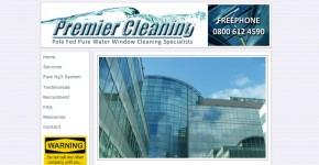 Premier Cleaning website screenshot